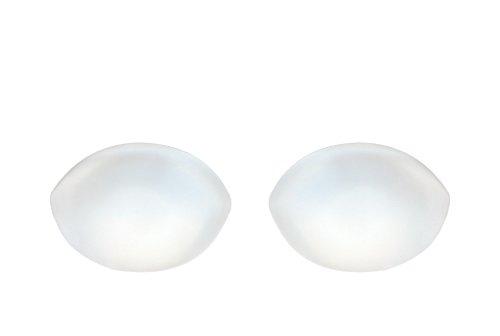 SODACODA - 150g / par - Insertos de silicona de forma ovalada - Reforzador de senos para sujetadores, trajes de baño, bikini - para copas A, B, C y D - Transparente transparente