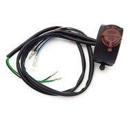 "Universal 7/8"" Right Side Handlebar Switch Assembly - Kill & Headlight Switches"