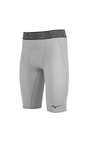Mizuno Aero Vent Padded Sliding Short, Grey, XX-Large