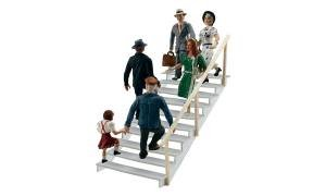 Price comparison product image Woodland Scenics HO Scale Scenic Accents Figures / People Set Taking Stairs (6)