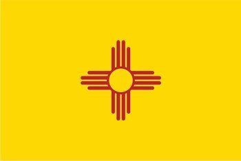 - New Mexico State NM Flag Vinyl Decal Sticker Land of Enchantment Crescit eundo 5-Inch by 3-Inch Premium Quality UV Resistant Laminate JMM016