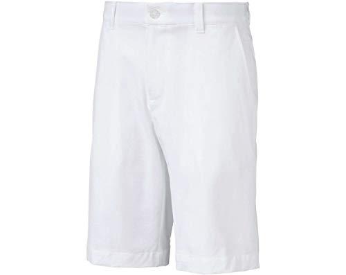 Puma Golf Boys 2019 Heather Pounce Short, Bright White, ()