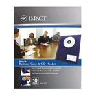 GBC Snap-in CD and Business Card Holders, Clear, 10 Holders per Pack (2513551)
