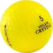 24 Mint Yellow Volvik Crystal Used Golf Balls AAAAA - 2 Dozen