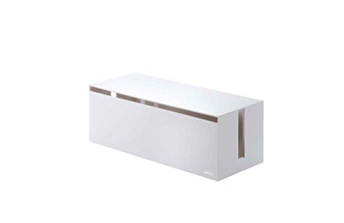 - YAMAZAKI home Web Cable Box, White