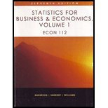 Statistics for Business & Economics, Volume 1, David R. Anderson, Dennis J. Sweeney, Thomas A. Williams, 1111720568