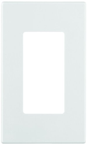 Leviton 80301-SW 1-Gang Decora Plus Wallplate Screwless Snap-On Mount, White