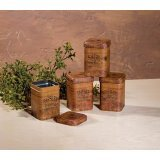 Vintage Look FOOD SAFE Herb Tins Spice Containers Storage Primitive Decor Assorted (Wholesale Tin Containers)