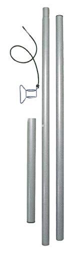 EDUPLAY 160-011 Stahlmast und Zubehör für Sonnenschutz Sonnensegel, silber, 4-teilig (1 Set)