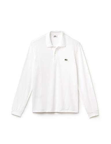 Lacoste Men's Long Sleeve Classic Pique Polo, White, X-Large