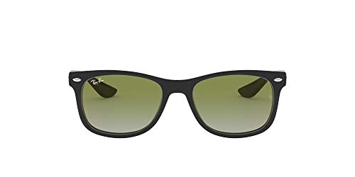 Ray-Ban Junior Kid's RJ9052S New Wayfarer Kids Sunglasses, Black/Green Mirror Red Gradient, 47 mm (Ray-ban New Wayfarer Amazon)