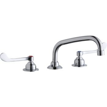 Elkay Brass Polished Faucet - Elkay LK800AT08T6 Deck Mount WS AT 8