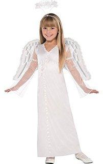 Amscan Girls Heavenly Angel Costume - Medium (8-10) White]()