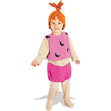 Flintstones Feet Costume - Little Girls' Pebbles Flintstone Costume Medium