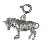 CleverEve 14K White Gold Pendant Zebra 1.8 Grams