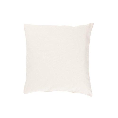 Kissenbezug, Uni, Baumwolle Linon, Reißverschluss, einfarbig, Kopfkissen, Dekokissen | 50x50 cm - Creme