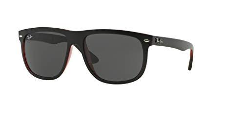 Ray Transparent On Grey Black Sunglasses Rb4147 dark Matte Top Red ban C1wCrqS