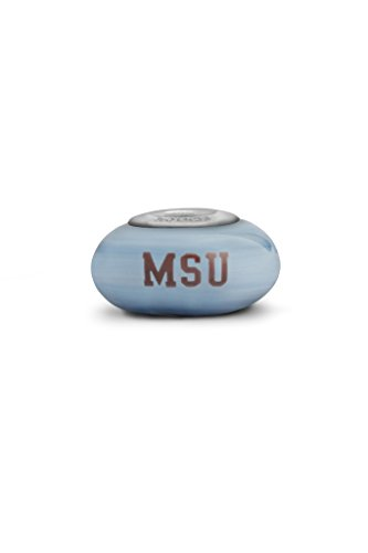 Mississippi State University Bulldogs Fenton Glass Bead Fits Most European Style Charm Bracelets