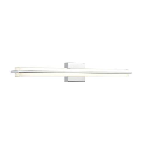 36 Inch Strip Fixture - Dario 36 inch LED Bathroom Vanity Lights | Chrome Bathroom Light LL-WL927-2PC-36
