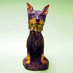 Mini Bobble Head Dog Doberman Pinscher by Swibco