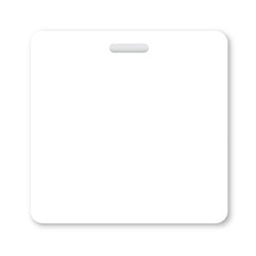 Blank White Horizontal Badge Buddy from Specialist ID, Sold Individually