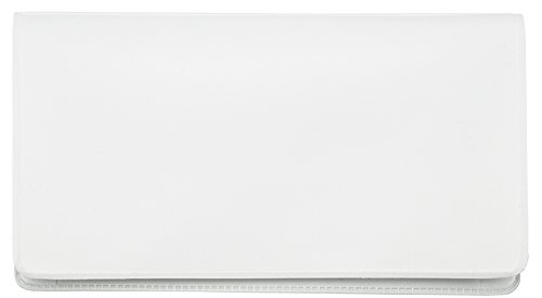 White Vinyl Checkbook Cover
