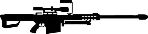50 Caliber M82A1 Sniper Rifle Decal Sticker Car Motorcycle Truck Bumper Window Laptop Wall Décor Size- 20 Inch Wide Black Color (Best 50 Cal Rifle)