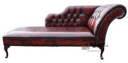 Recamiere chaiselongue antik  Chesterfield Recamiere Leder, Tagesbett, Antik, Ochsenblutrot ...