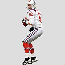 NFL Wall Decal NFL Player: Tom Brady AFL Jersey