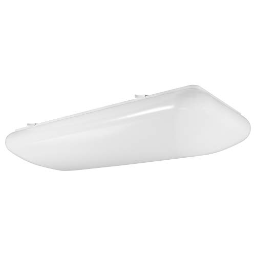 Luxrite 2FT Puff LED Flush Mount Light Fixture, 5000K Bright White, 3500 Lumens, 110-277V, 34W Surface Mount LED Cloud Ceiling Light, Energy Star & ETL Listed, Damp Location ()