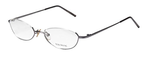 Vera Wang V04 Womens/Ladies Rxable Popular Design Designer Half-rim Eyeglasses/Glasses (49-18-135, - Bottom Rim Glasses Half