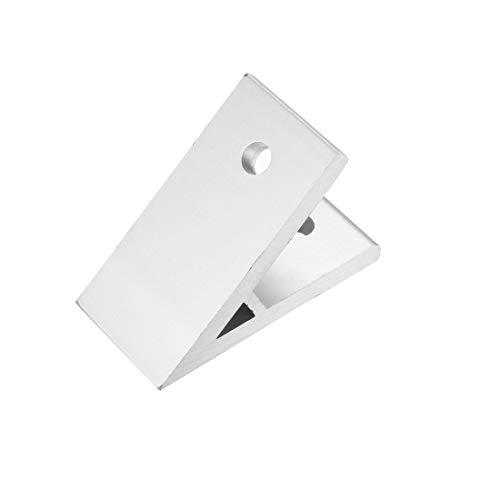uxcell 3030 Aluminum Corner Brackets Profile Corner Joint Connectors Corner Braces (45 Degree Angle) 3Pcs