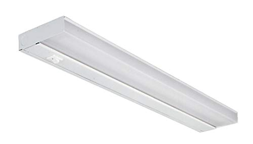 NICOR Lighting 21-Inch 13-Watt T5 Fluorescent Under Cabinet Light, White -