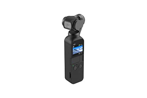 DJI Osmo Pocket Handheld 3 Axis Gimbal Stabilizer with integrated Camera, Attachable to Smartphone, Android (USB-C), iPhone ()