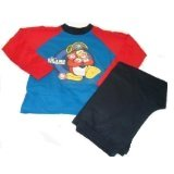 Club Penguin Little Boy's Pyjamas Ages 5-6 Years Red And Blue
