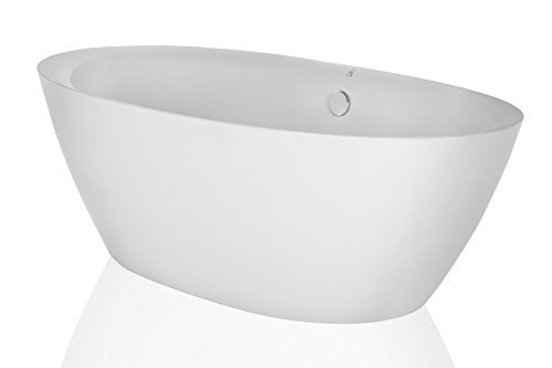 Empava 71'' Luxury Stand Alone Acrylic Soaking SPA Tub Modern Freestanding Bathtubs with Custom Contemporary Design EMPV-FT1503 by Empava (Image #1)