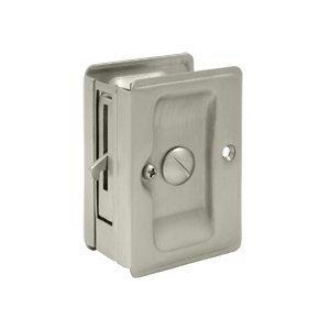 Deltana SDLA325U15 3-1/4'' x 2-1/4'' Solid Brass Heavy Duty Adjustable Pocket Door Privacy Lock, Pack Of 2