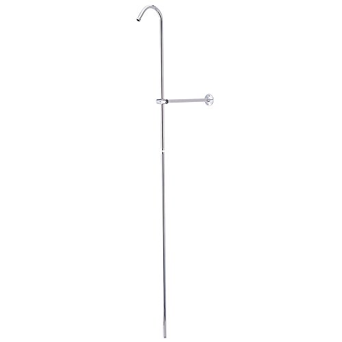 Shower Shower Riser (Kingston Brass CCR601 Vintage Shower Riser And Wall Support, 6-Inch, Polished Chrome)