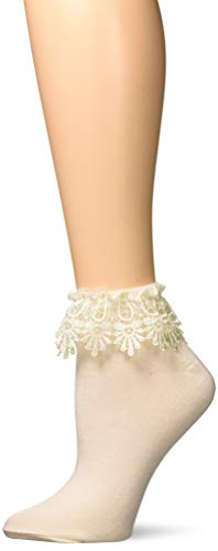 (Leg Avenue Womens Venice Lace Top Anklet Socks)