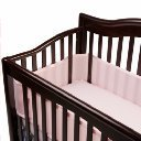 BreathableBaby Classic Breathable Mesh Crib Liner - Light Pink