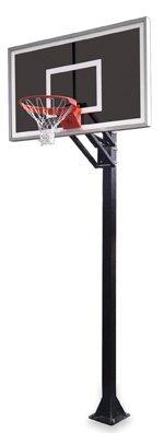最初チームChamp eclipse-bp steel-smokedガラスin ground調整可能バスケットボールsystem44、スカーレット B01HC0BT8M
