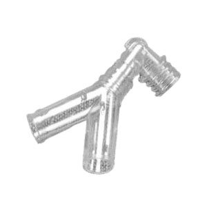AirLife Adult Y Connector with Elbow 22 mm O.D.