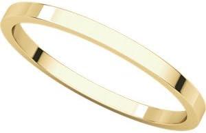 14k Yellow Gold 1.5mm Plain Stacking Ring