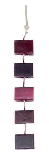 DecoFLAIR Candles On A Rope Scented Tealight Votive Candles, Plum Berry, String of 5 (Berry Candle Holder)