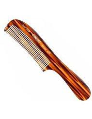 Kent 10T 8'' Hand Made Wet/Thick Coarse Hair Rake Comb, Sawcut (2 PACK)