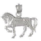 CleverEve 14K White Gold Pendant Horse 1.9 Grams