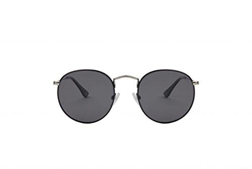triple graces Women's Ultralight Blakes Black Frame Black Lens Oval Sunglasses - Sunglasses Grace