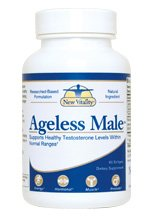 New Vitality Ageless Male Testosterone Booster Tablets, 60 Counts (30 Day Supply)