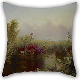 - Artistdecor Oil Painting Jerome B. Thompson - Duck Hunting Pillow Shams 16 X 16 Inches / 40 By 40 Cm Best Choice For Husband,birthday,teens Girls,lover,boys,girls With Twice Sides