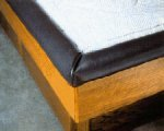 3 pc Std. Waterbed Padded Rails Fabric - King, Sand Velvet